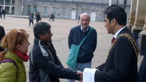 Peace walk with Rajagopal in Birmingham, UK