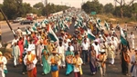 Footmarch from Palwal to Delhi from 20th to 23rd February