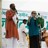 Margrit Hugentobler, President of CESCI, at Jan Satyagraha 2012 credit Ekta Parishad