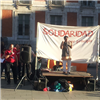 Rajagopal speaking in Spain in May 2014 credit Breaking Chains Congress, Madrid